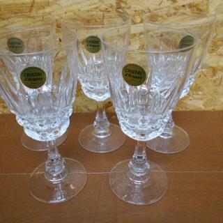 クリスタルダルク(Cristal D'Arques)の【CRISTAL d'Arques/クリスタルダルク】ワイングラス 5客セット(グラス/カップ)