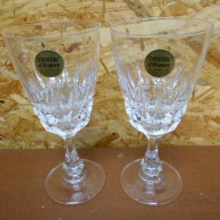 クリスタルダルク(Cristal D'Arques)の【CRISTAL d'Arques/クリスタルダルク】ワイングラス ペア 2(グラス/カップ)