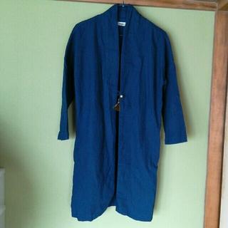 ゴーヘンプ(GO HEMP)の値下げ!!omake ジャケット コート インディゴ 羽織り(ロングコート)