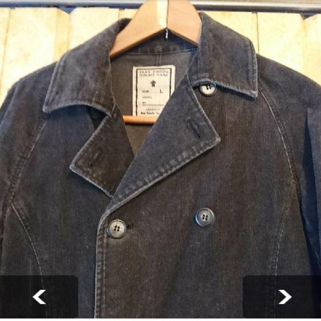 DOUBLE NAME(ダブルネーム)のDOUBLE NAME コーデュロイ ピーコート ユーズド加工 メンズのジャケット/アウター(ピーコート)の商品写真