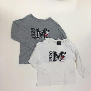 ジーユー(GU)のGU ミッキーTシャツ 110  2枚セット(Tシャツ/カットソー)