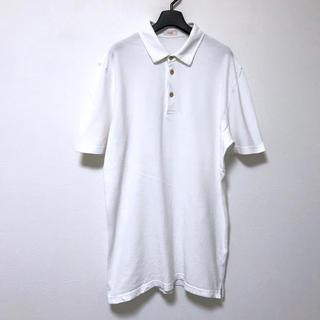 アルテア(ALTEA)の定1.6万 altea アルテア コットン半袖ポロシャツL ホワイト(ポロシャツ)