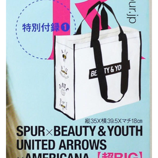 ビューティアンドユースユナイテッドアローズ(BEAUTY&YOUTH UNITED ARROWS)のSPUR シュプール 2012年10月号 付録 ショッピングトート(エコバッグ)