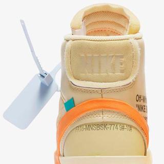 ナイキ(NIKE)のOFF-WHITE Blazer オレンジ 26cm(スニーカー)