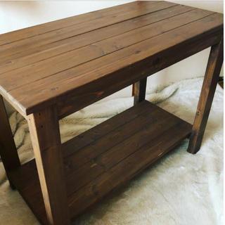 ハンドメイド / 木製 シェルフ テーブル 棚 シャビー アンティーク調(その他)