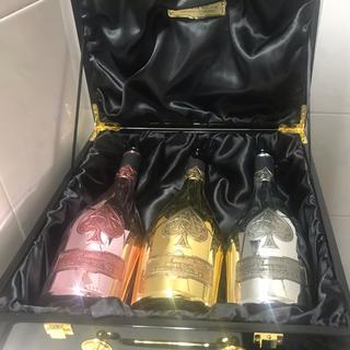 アルマンドバジ(Armand Basi)の超希少!! アルマンドブリニャック  3本セット 空き瓶 アタッシュケース付き!(シャンパン/スパークリングワイン)
