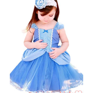 シンデレラ ドレス ワンピース キッズ 女の子 コスプレ ハロウィン 仮装(ドレス/フォーマル)