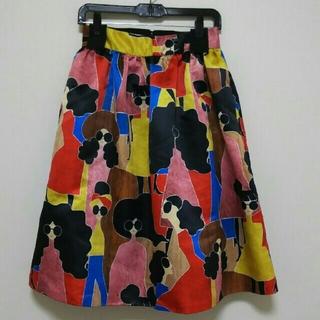 アリスアンドオリビア(Alice+Olivia)のアリス+オリビア バーディミドルレングス スカート&ポーチ(ひざ丈スカート)