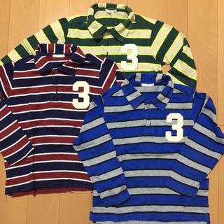 ジーユー(GU)のジーユー ラガーシャツ 120 3枚組(Tシャツ/カットソー)