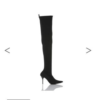 イエローブーツ(Yellow boots)の今期新作 yello shoes サイハイブーツ 黒 M(ブーツ)
