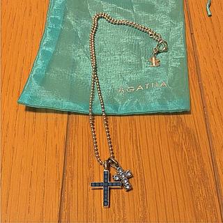 アガタ(AGATHA)のAGATHA PARIS アガタパリ ネックレス  クロス  ブルー(ネックレス)