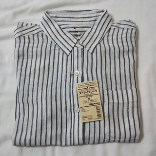ムジルシリョウヒン(MUJI (無印良品))の新品 リネンシャツ M(シャツ/ブラウス(長袖/七分))