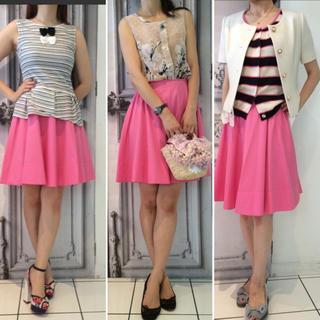 ルシェルブルー(LE CIEL BLEU)のmanielle 4color スカート ピンク(ひざ丈スカート)
