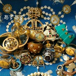ヴィヴィアンウエストウッド(Vivienne Westwood)のグラスカットオーブリング 珍しい初期アイテム ヴィヴィアン(リング(指輪))