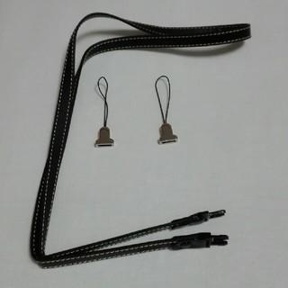 エツミ(ETSUMI)のETSUMI デュアルポイントストラップ 2点吊りデジカメ用 ブラック(その他)
