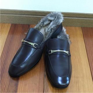 ジーユー(GU)のGU フェイクファー ローファースリッパ(ローファー/革靴)