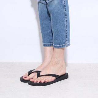 ハワイアナス(havaianas)のハワイアナス havaianas TOP (kids sizes)(black)(ビーチサンダル)