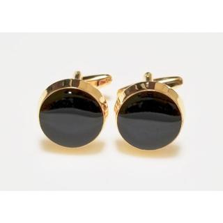 ブラックオニキス ゴールド カフス カフスボタン c0001(カフリンクス)