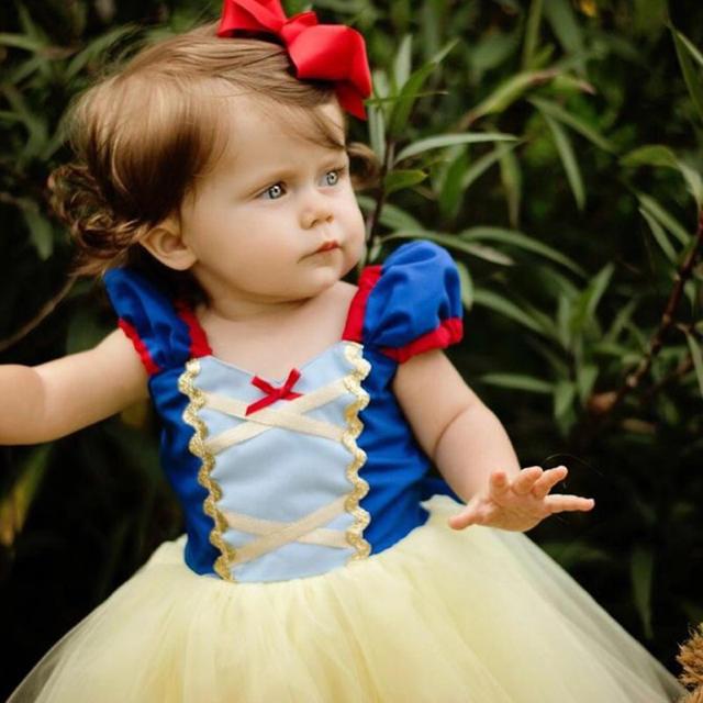 白雪姫 なりきり ドレス ワンピース キッズ 女の子 コスプレ ハロウィン 仮装 キッズ/ベビー/マタニティのキッズ服 女の子用(90cm~)(ドレス/フォーマル)の商品写真