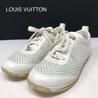 ルイヴィトン(LOUIS VUITTON)の正規品 ルイヴィトン レザー スニーカー ホワイト(スニーカー)