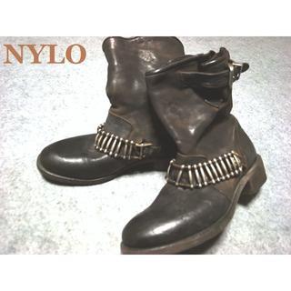 グイディ(GUIDI)のNYLO ナイロ イタリア製ハンドメイド レザーエンジニアブーツ 37(ブーツ)