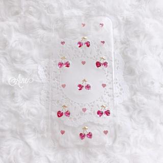 Aine♥ さくらんぼ チェリー iphone ケース ピンク(スマホケース)