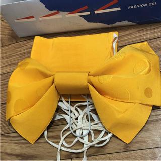 作り帯 黄色 巾着付き(浴衣帯)