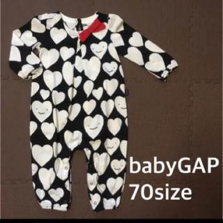 ベビーギャップ(babyGAP)のbabyGAP ボディオール 70 新品 ロンパース 長袖 ベビーオール ♡(ロンパース)