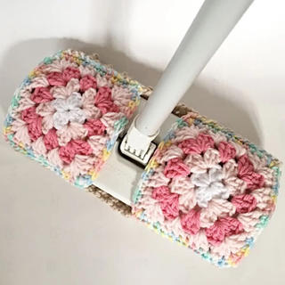 アクリルモップ ピンク2  水拭き用(キッチン小物)