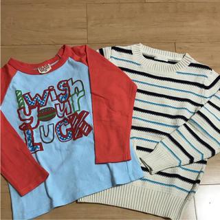 ジーユー(GU)のキッズ Tシャツ ニット 130(Tシャツ/カットソー)