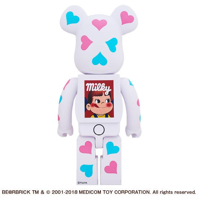 MEDICOM TOY(メディコムトイ)の新品 BE@RBRICK ペコちゃん ハート 1000% ベアブリック 送料込み エンタメ/ホビーのおもちゃ/ぬいぐるみ(キャラクターグッズ)の商品写真