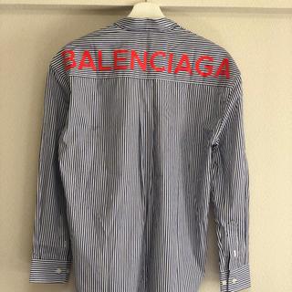 バレンシアガ(Balenciaga)のBalenciaga バレンシアガ ストライプ シャツ 2017(シャツ/ブラウス(長袖/七分))