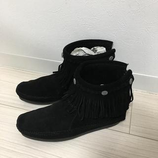 ミネトンカ(Minnetonka)のミネトンカ モカシンブーツ 黒💓(ブーツ)