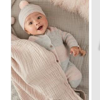 ネクスト(NEXT)のネクストベビー next baby 今期 カラーブロック ニットロンパース(ロンパース)