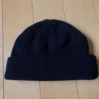 ウィゴー(WEGO)のニット帽 ネイビー(ニット帽/ビーニー)