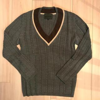 ノリコイケ(norikoike)のNORIKOIKE ノリコイケ Vネック ニット セーター Sサイズ グレー(ニット/セーター)