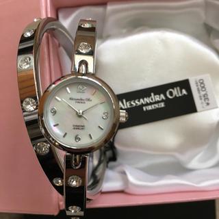 アレッサンドラオーラ(ALESSANdRA OLLA)の【お値下げしました】レディースウォッチ バングル ラインストーン(腕時計)