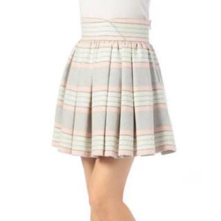 リズリサ(LIZ LISA)の美品 LIZ LISA♡ボーダーウールスカート(ミニスカート)