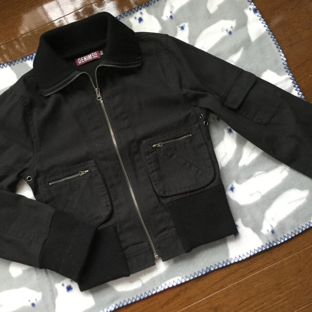 DENIM CRAFT(デニムクラフト)の ブラック  ブルゾン レディースのジャケット/アウター(ブルゾン)の商品写真