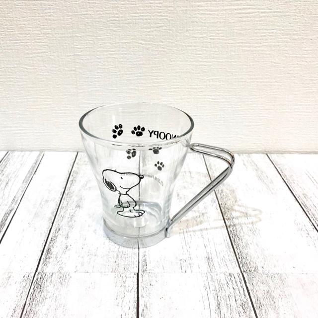 SNOOPY(スヌーピー)の【PEANUTS】スヌーピーステンレス取っ手付きグラス インテリア/住まい/日用品のキッチン/食器(グラス/カップ)の商品写真