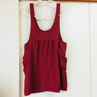 ジエンポリアム(THE EMPORIUM)の赤 ジャンパースカート(ひざ丈ワンピース)