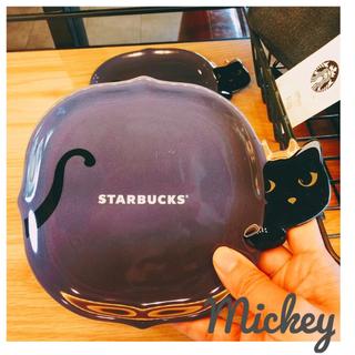 Starbucks Coffee - 台湾 スターバックス ハロウィン 黒猫 プレート