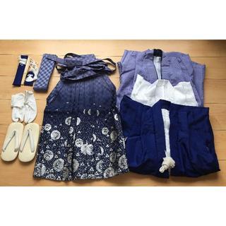 七五三 着物 5歳 男の子 羽織袴12点フルセット(和服/着物)