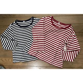 ムジルシリョウヒン(MUJI (無印良品))の長そでTシャツ(2枚セット) 100㎝ 無印良品(Tシャツ/カットソー)