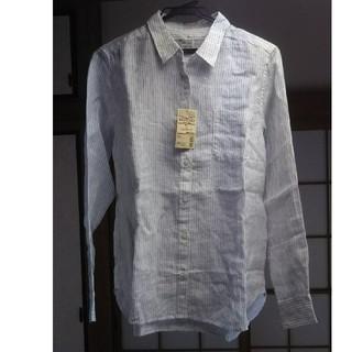 ムジルシリョウヒン(MUJI (無印良品))の無印良品 ストライプシャツ 新品未使用品(シャツ/ブラウス(長袖/七分))