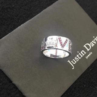 ジャスティンデイビス(Justin Davis)の新品◆JUSTIN DAVIS×BASK◆LOVE RING◆17号◆限定コラボ(リング(指輪))