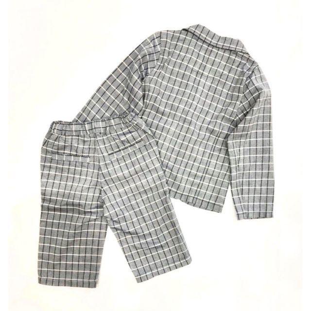 STUDIO MINI(スタジオミニ)のSTUDIO MINI チェック柄フォーマル スーツセット キッズ/ベビー/マタニティのキッズ服 男の子用(90cm~)(ドレス/フォーマル)の商品写真