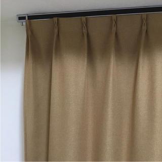 ムジルシリョウヒン(MUJI (無印良品))のいいねBL 値下×半年使用 無印 防炎遮光 オーダーカーテン マスタードイエロー(カーテン)