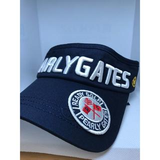 パーリーゲイツ(PEARLY GATES)の[パーリーゲイツ] PEALY GATES 紺 サンバイザー サイズフリー(サンバイザー)