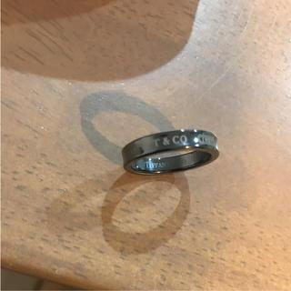 ティファニー(Tiffany & Co.)のティファニー ブラックチタン リング 指輪(リング(指輪))